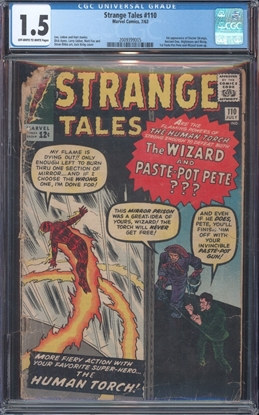 Picture of STRANGE TALES (1951) #110 CGC FR/GD OWW