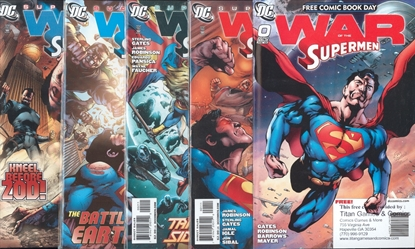 Picture of SUPERMAN WAR OF SUPERMAN (2010) #1 2 3 4 + #0 FCBD ISSUE  COMPLETE SET NM-