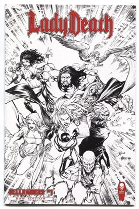 Picture of LADY DEATH HELLRAIDERS #1 (OF 1) RAW ED (MR)