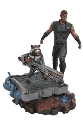 Picture of MARVEL PREMIERE AVENGERS 3 THOR & ROCKET STATUE