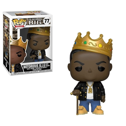 Picture of FUNKO POP ROCKS NOTORIOUS B.I.G. W/ CROWN #77 NEW VINYL FIGURE