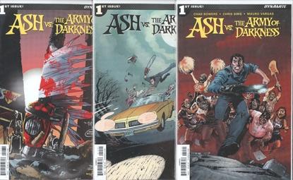 Picture of ASH VS AOD #1 CVR A B C 3 COVER SET NM