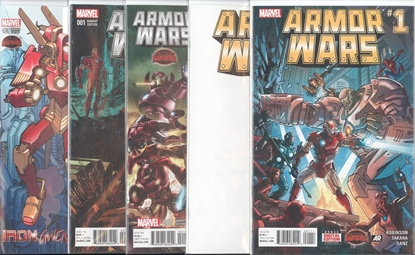 Picture of ARMOR WARS #1 5 COVER SET NM