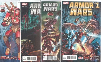 Picture of ARMOR WARS #1 4 COVER SET NM