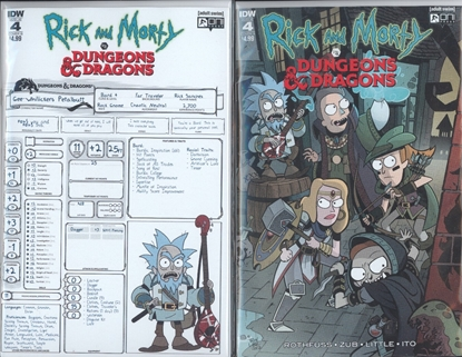Picture of RICK & MORTY VS DUNGEONS & DRAGONS #4 CVR A & B SET NM