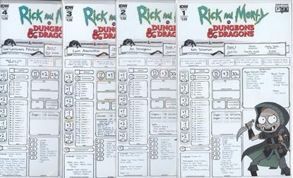 Picture of RICK & MORTY VS DUNGEONS & DRAGONS #1-4 CVR B SET NM