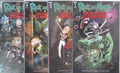 Picture of RICK & MORTY VS DUNGEONS & DRAGONS #1-4 CVR A SET NM