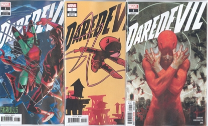 Picture of DAREDEVIL #1 1ST PRINT DELL OTTO SKRULLS & YOUNG CVR SET NM