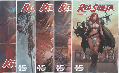 Picture of RED SONJA #1 CVR A B C D E 5 COVER SET NM