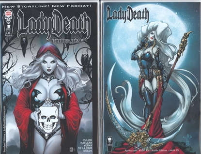 Picture of LADY DEATH APOCALYPTIC ABYSS #1 STANDARD & SCYTHE CVR SET