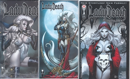 Picture of LADY DEATH APOCALYPTIC ABYSS #1 STANDARD SCYTHE & NAUGHTY CVR SET