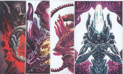 Picture of ALIENS DUST TO DUST #1-4 VARIANT COVER SET NM