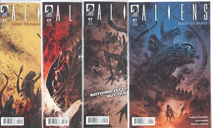 Picture of ALIENS DUST TO DUST #1-4 1ST PRINT SET NM