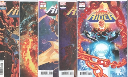 Picture of COSMIC GHOST RIDER #1-5 VARIANT COVER SET