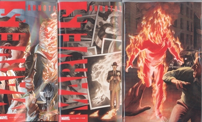 Picture of MARVELS ANNOTATED #1 1ST PRINT ALEX ROSS VIRGIN & RIVERA COVER SET NM