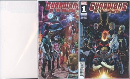 Picture of GUARDIANS OF THE GALAXY (2019) #1 1ST PRINT BLANK & SHAW 3 CVR SET NM