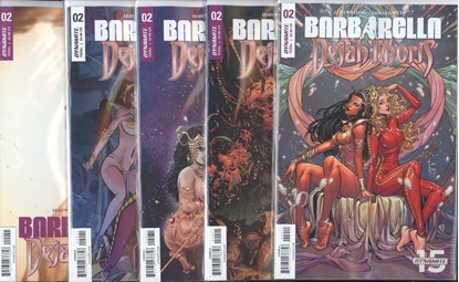 Picture of BARBARELLA DEJAH THORIS #2 CVR A B C D E 5 COVER SET NM