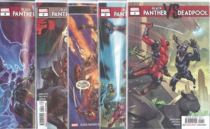 Picture of BLACK PANTHER VS DEADPOOL (2018) #1-5 1ST PRINT SET NM