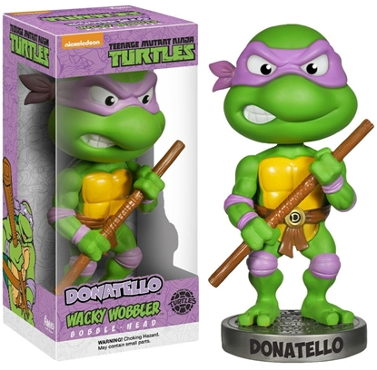 Picture of FUNKO WACKY WOBBLER BOBBLE HEAD T.M.N.T. DONATELLO NEW VAULTED