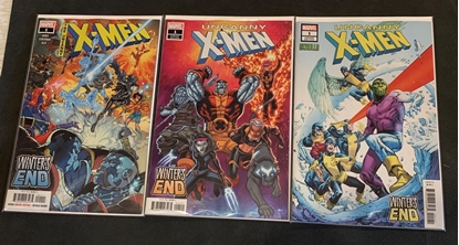 Picture of UNCANNY X-MEN WINTERS END (2019) #1 1ST PRINT LIM & RANEY SKRULLS COVER SET NM