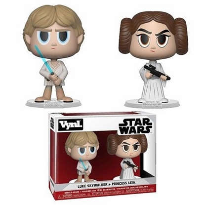 Picture of FUNKO VYNL STAR WARS LUKE SKYWALKER + PRINCESS LEIA 2PK NEW FIGURES