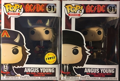 Picture of FUNKO POP ROCKS AC/DC ANGUS YOUNG #91 SET OF 2 CHASE & COMMON NEW VINYL FIGURES