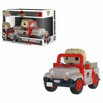 Picture of FUNKO POP RIDES JURASSIC PARK PARK VEHICLE #39 NEW VINYL FIGURE