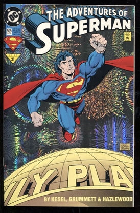 Picture of ADVENTURES OF SUPERMAN (1987) #505 FOIL 9.2 NM-