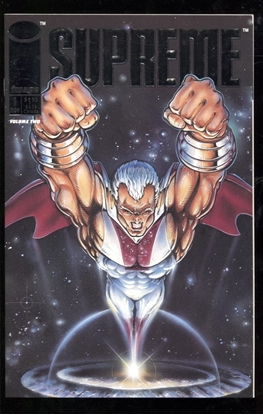 Picture of SUPREME (1992) #1 SILVER FOIL EMBOSSED COVER 9.6 NM+