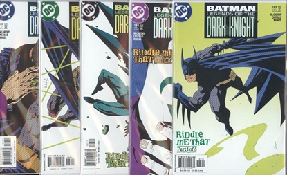 Picture of BATMAN LEGENDS OF THE DARK KNIGHT #185-189 SET