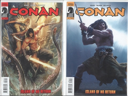 Picture of CONAN (2011): ISLAND OF NO RETURN #1 2 SET
