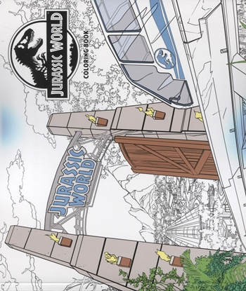 Picture of JURASSIC WORLD ADULT COLORING BOOK TP