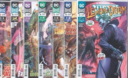 Picture of JUSTICE LEAGUE #13-18 + ANNUAL #1 HAWKWORLD SET NM