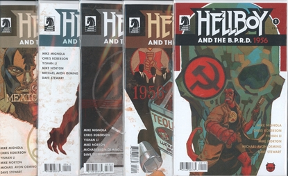 Picture of HELLBOY AND BPRD 1956 #1-5 1ST PRINT SET NM