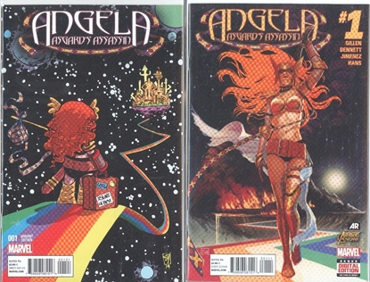 Picture of ANGELA ASGARDS ASSASSIN #1 1ST PRINT & YOUNG CVR SET