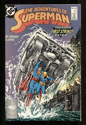 Picture of ADVENTURES OF SUPERMAN (1987) #449 9.6 NM+