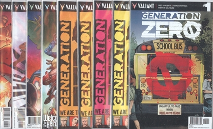 Picture of GENERATION ZERO #1-9 1ST PRINT CVR A SET NM