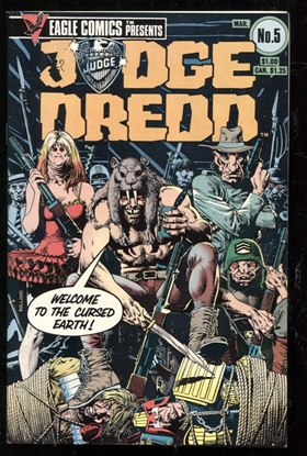 Picture of JUDGE DREDD (1983) #5 9.4 NM