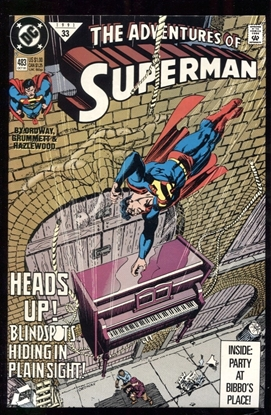 Picture of ADVENTURES OF SUPERMAN (1987) #483 9.6 NM+