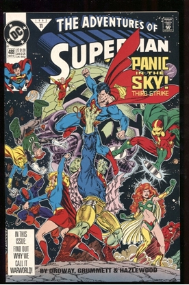 Picture of ADVENTURES OF SUPERMAN (1987) #488 9.0 VF/NM