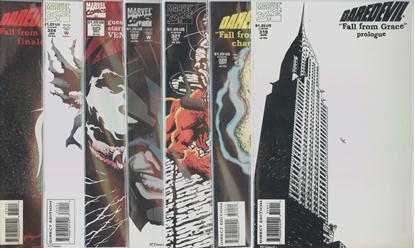 Picture of DAREDEVIL #319-325 FALL FROM GRACE SET VF+