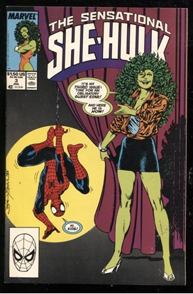 Picture of SENSATIONAL SHE-HULK (1989) #3 9.4 NM
