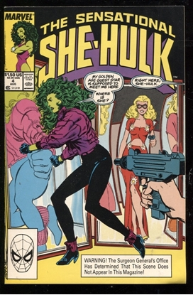 Picture of SENSATIONAL SHE-HULK (1989) #4 9.2 NM-