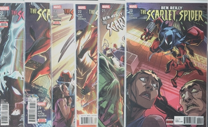 Picture of BEN REILLY SCARLET SPIDER #20-25 SET NM