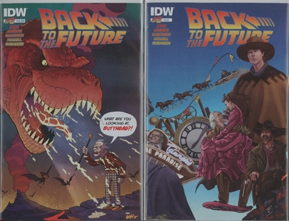 Picture of BACK TO THE FUTURE #3 1ST PRINT & SUB CVR SET NM-