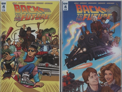 Picture of BACK TO THE FUTURE #4 1ST PRINT & SUB CVR SET NM-