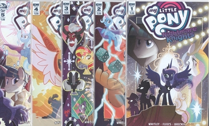 Picture of MY LITTLE PONY NIGHTMARE KNIGHTS #1-5 CVR A FLEECS SET NM