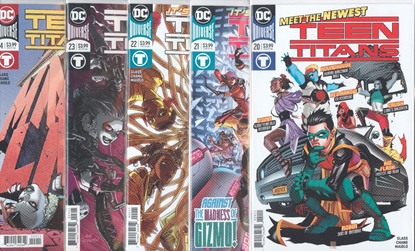 Picture of TEEN TITANS #20-24 1ST PRINT SET