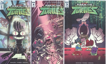 Picture of RISE OF TMNT #3 4 5 CVR A 1ST PRINT SET NM