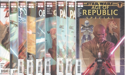 Picture of STAR WARS AGE REPUBLIC  HEROES AND VILLAINS SET 9 BOOK SET NM